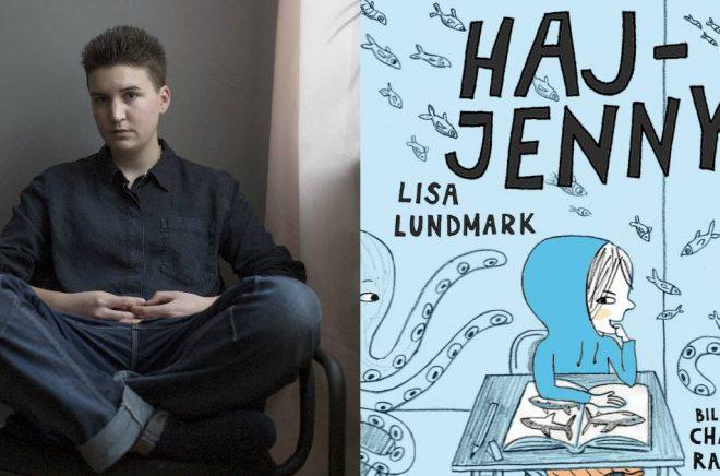 Lisa Lundmark tilldelas debutantpriset Slangbellan för sin bok Haj-Jenny.