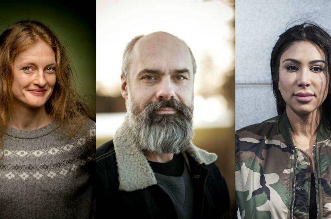Helena Hedlund (foto: Kicki Nilsson), Marjan Svab (foto: Tom Wall) och Melody Farshin (foto: Caroline Andersson).