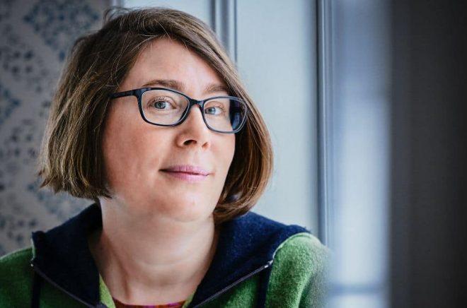 Författaren Sofia Nordin är en av de åtta Martha Sandwall-Bergström-stipendiaterna år 2021. Foto: Martin Henningsson