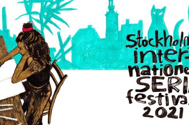 Årets officiella festivalbild har tecknats av Anneli Furmark. (Bilden är beskuren.)