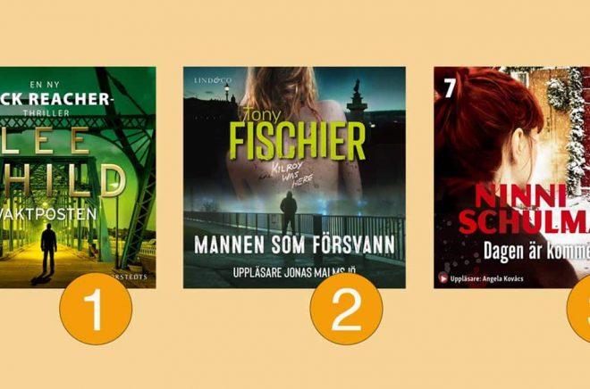 De tre mest lästa/lyssnade böckerna på Storytel vecka 20.