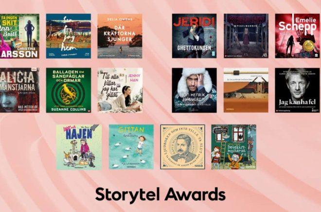 16 ljudböcker går vidare till final i Storytel Awards 2021. Foto: Storytel