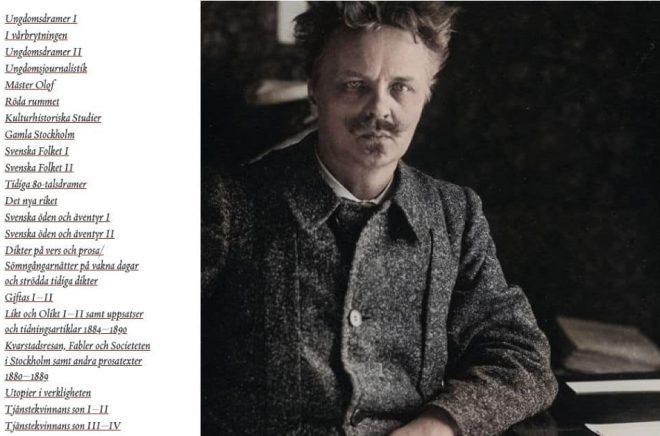 Litteraturbanken tillgängliggör August Strindbergs samlade verk. Foto: Litteraturbanken