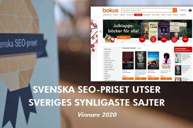 Bokus är en av vinnarna av Svenska SEO-priset 2020.