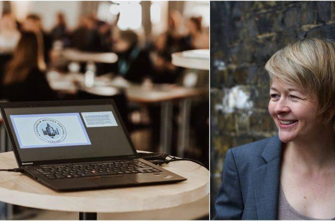 Stockholm Writers Festival arrangeras för fjärde året i rad, och precis som 2020 blir eventet helt digitalt. Författaren Sarah Waters är huvudtalare. Foto till vänster: Pressbild Stockholm Writers Festival. Foto till höger: Charlie Hopkinson