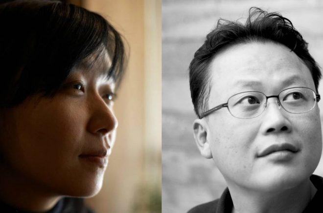 Han Kang (foto: Park Jaehong) och Kim Un-Su (foto: Dahuim Paik).