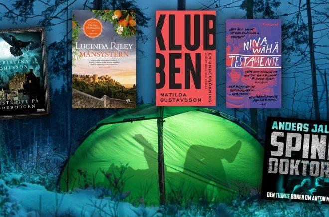 De mest sålda böckerna i Sverige under januari 2020. Visst matchar färger och titlar bilden väldigt bra? Bakgrundsfoto: iStock.