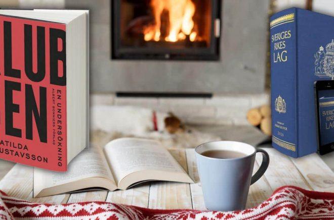 Den mest sålda boken i volym under första kvartalet 2020 var Matilda Gustavssons Klubben. Räknat i kronor drog Sveriges Rikes lag in mest pengar under kvartalet. Bakgrundsfoto: iStock. Montage: Boktugg.
