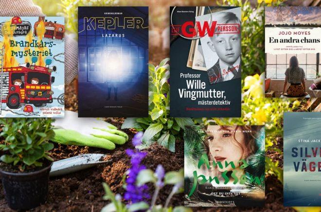 De 20 mest sålda böckerna i Sverige under mars månad 2019 - i sex olika kategorier. Bakgrundfoto: iStock. Montage: Boktugg.