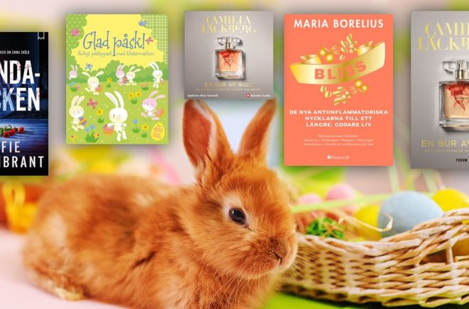 Fanns någon av de här böckerna i påskägget? Topplistan för april 2019 med de mest sålda böckerna i Sverige. Bakgrundsfoto: iStock.