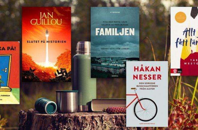 De mest sålda böckerna i Sverige under augusti 2020. Skönlitteratur, facklitteratur, barnböcker, pocketböcker, eböcker och ljudböcker. Foto: iStock.
