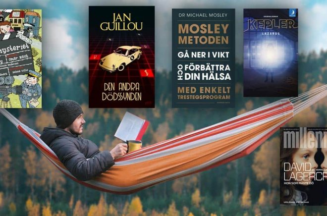 Filmmysterier, Den andra dödssynden, Mosleymetoden, Lazarus och Hon som måste död. Där har ni böckerna som sålde bäst i Sverige i september 2019. Bakgrundsfoto: iStock.