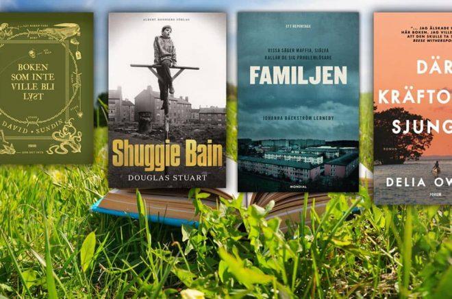 De mest sålda böckerna i mars 2021. Här är några av böckerna som finns överst på respektive kategori-topplista. Foto: iStock. Montage: Boktugg.