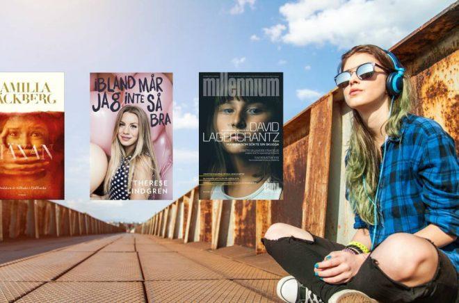 Tre av de mest populära böckerna på streamingtjänsterna 2017. Foto: iStock. Montage: Boktugg.