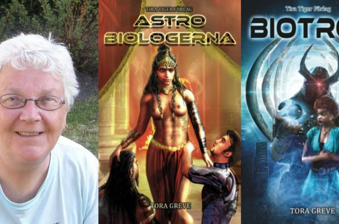 Tora Greve har bland annat skrivit sci fi-böckerna Astrobiologerna och Biotron. Foto: Privat