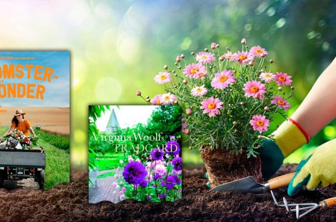 Det kommer många nya trädgårdsböcker varje år. Stockholms Gartnersällskap delar ut pris till Årets Trädgårdsbok och har för 2021 nominerat 11 böcker. Foto: iStock. Montage: Boktugg.