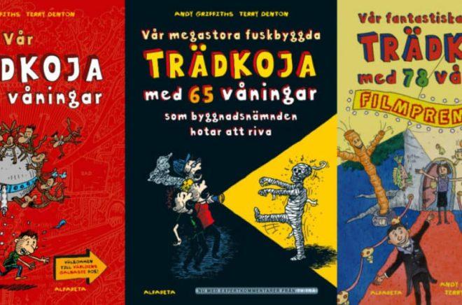 Andy Griffiths och Terry Dentons Trädkojan-serie (på originalspråk Treehouse series) är populär i hela världen.