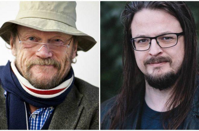 George Johansson (foto: Pressbild) och Daniel Lehto från Eloso förlag (foto: Mathilda Audas Björkholm).