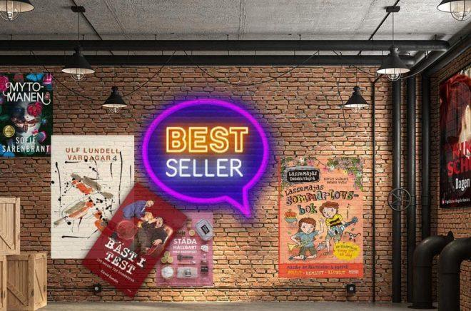 De mest sålda böckerna vecka 19 (2021) i Sverige. Bakgrundsfoto: iStock. Montage: Boktugg.