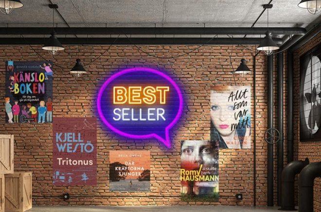De mest sålda böckerna i Sverige under vecka 34-2020. Foto: iStock. Montage: Boktugg.
