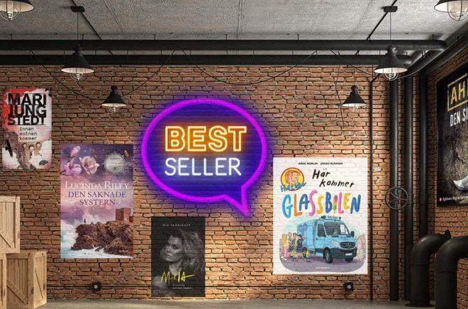 De mest sålda böckerna vecka 20 (2021) i Sverige. Bakgrundsfoto: iStock. Montage: Boktugg.