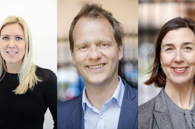 Annika Waldenström, Jonas Eek (Foto: Johanna Norin) och Kristina Wänblom (Foto: Johanna Norin).