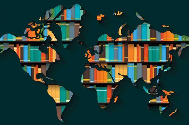 Böcker jorden runt. Illustration: iStock